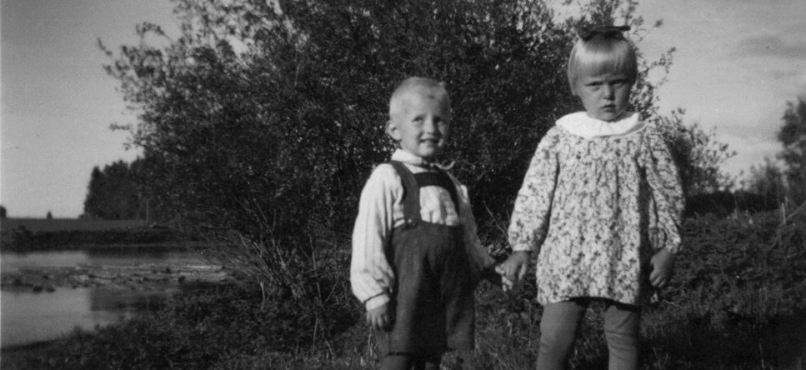 A boy and a girl in 1930's Finland